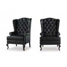 Каминное кресло с ушами Black