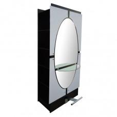 Парикмахерское зеркало Овал двухстороннее